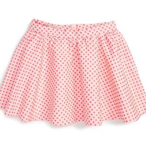 kate spade Girls' Polka Dot Jacquard Flouncy Skirt